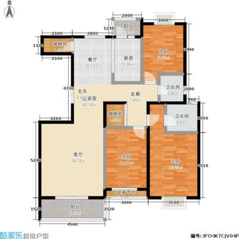 阳光绿岛3室0厅2卫1厨149.00㎡户型图