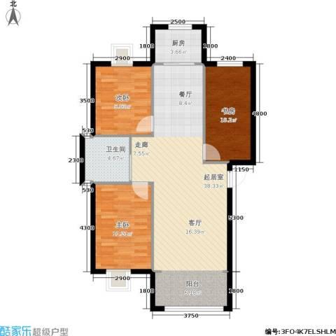 恩源智湾3室0厅1卫1厨98.00㎡户型图