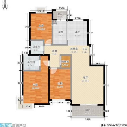 阳光绿岛3室0厅2卫1厨148.00㎡户型图