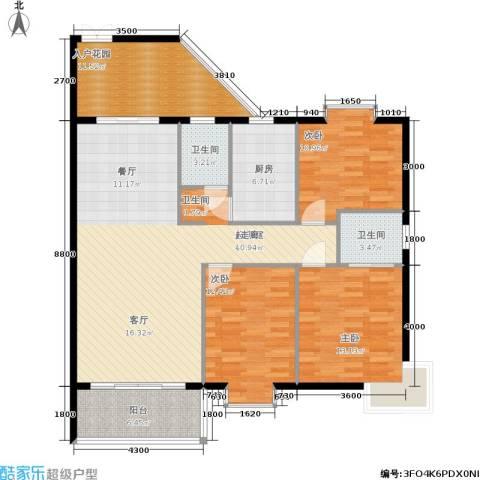 康定园华龙苑3室0厅2卫1厨119.00㎡户型图