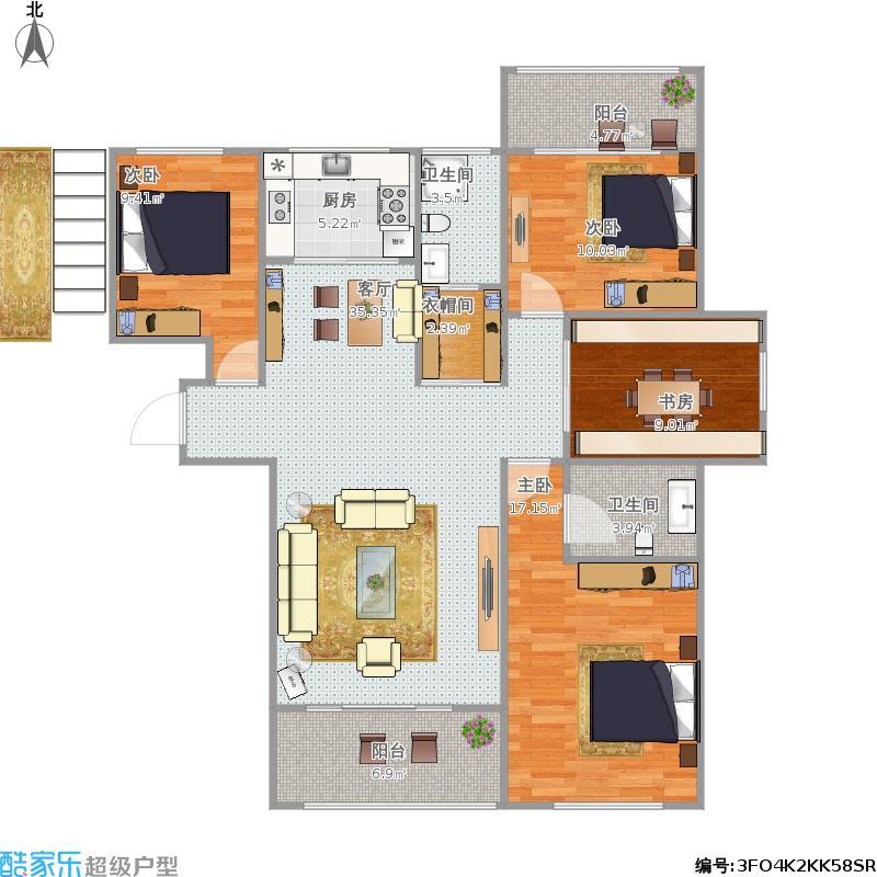 天湖国际C1-138平方四室两厅
