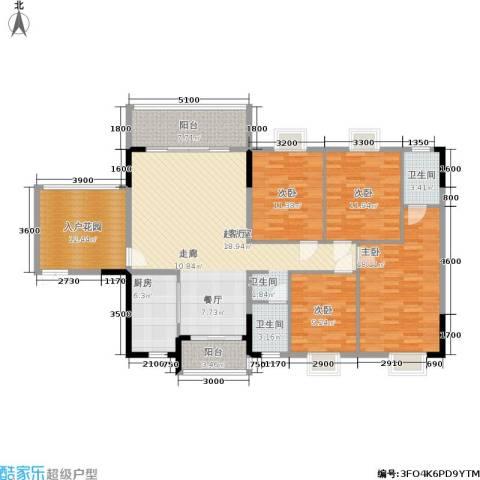 康定园华龙苑4室0厅2卫1厨164.00㎡户型图