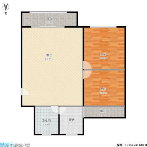 金虹苑2室1厅1卫1厨101.00㎡户型图