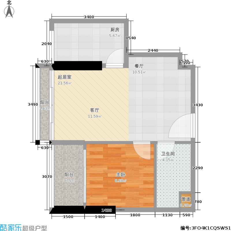 阳光上东国际公寓59.59㎡阳光・上东国际公寓户型