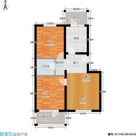 尧苑2室1厅1卫1厨93.00㎡户型图