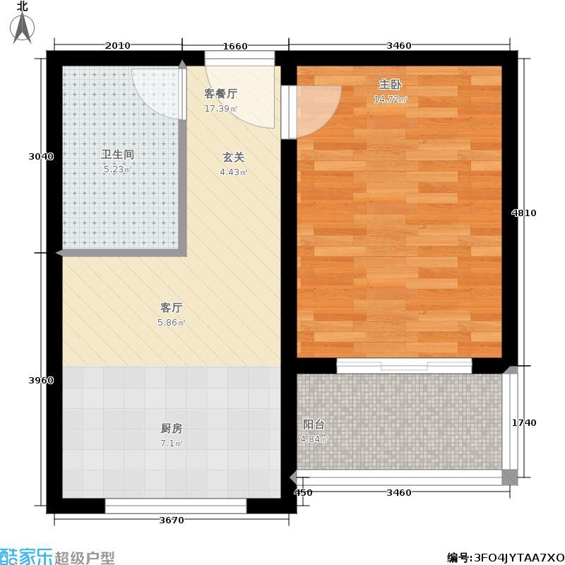 吉隆公寓48.28㎡已售完E户型