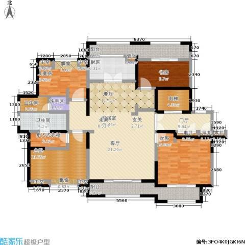 大华诺斐湾4室0厅2卫1厨167.00㎡户型图