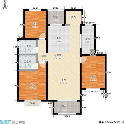 皇山花园别墅3室0厅2卫1厨140.00㎡户型图