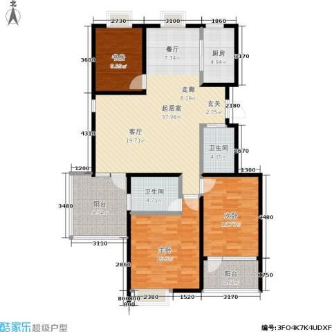 皇山花园别墅3室0厅2卫1厨144.00㎡户型图