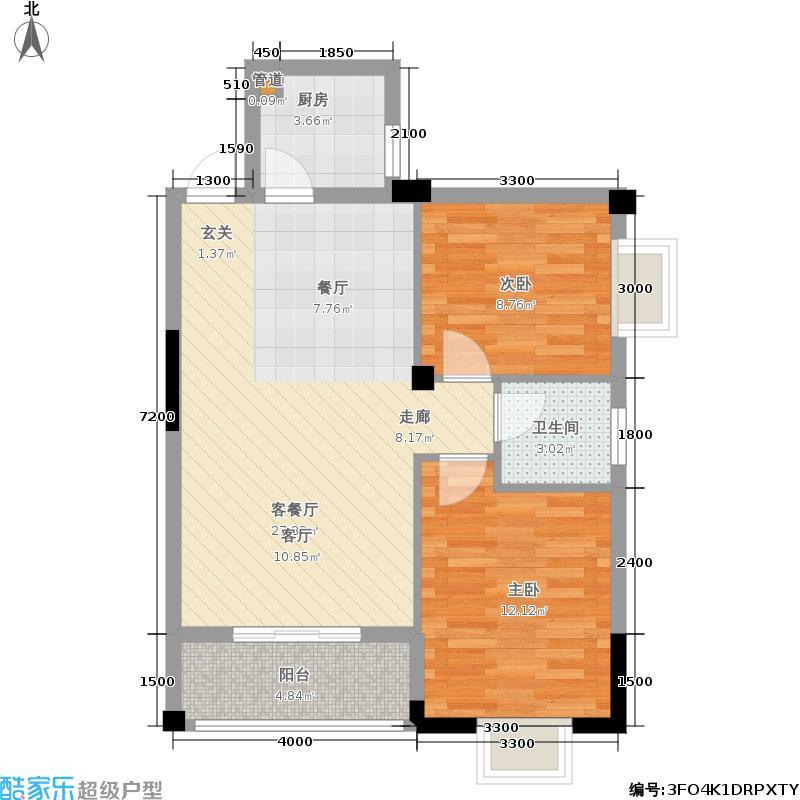 祥达锦苑76.77㎡2-2-02-02户型