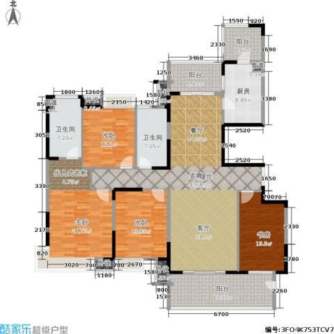 恒基誉珑岛4室1厅2卫1厨225.00㎡户型图