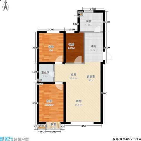 东城天下3室0厅1卫1厨101.00㎡户型图