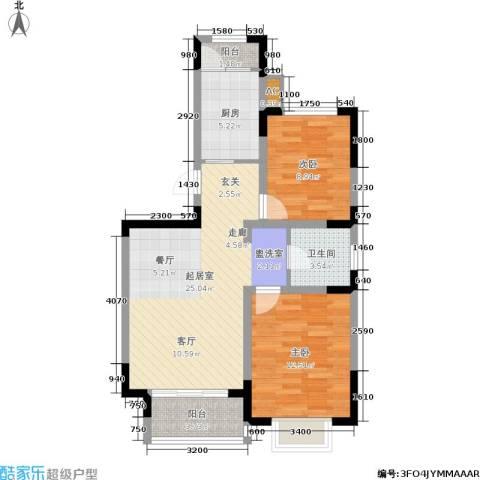 大地12城2室0厅1卫1厨87.00㎡户型图