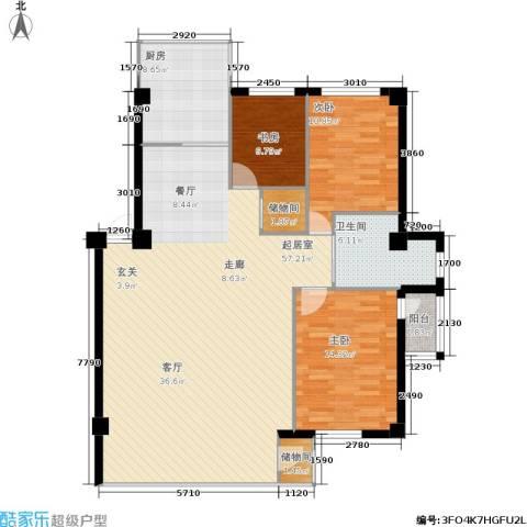 东升御景苑3室0厅1卫1厨149.00㎡户型图
