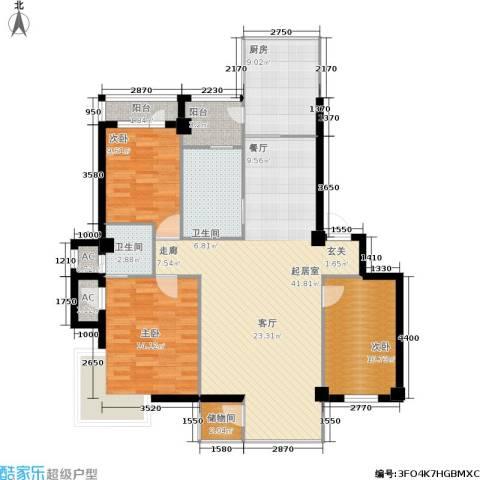 东升御景苑3室0厅2卫1厨145.00㎡户型图