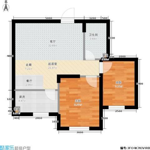 东城天下2室0厅1卫1厨68.00㎡户型图