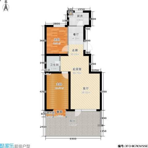 东城天下2室0厅1卫1厨100.00㎡户型图