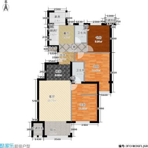 涧桥山3室1厅2卫1厨200.00㎡户型图