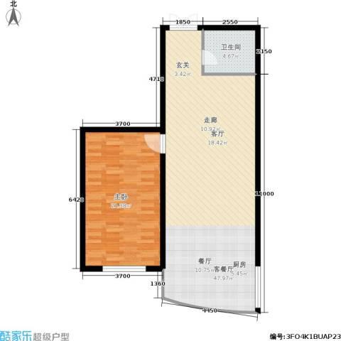 帝景豪庭1室1厅1卫0厨101.00㎡户型图