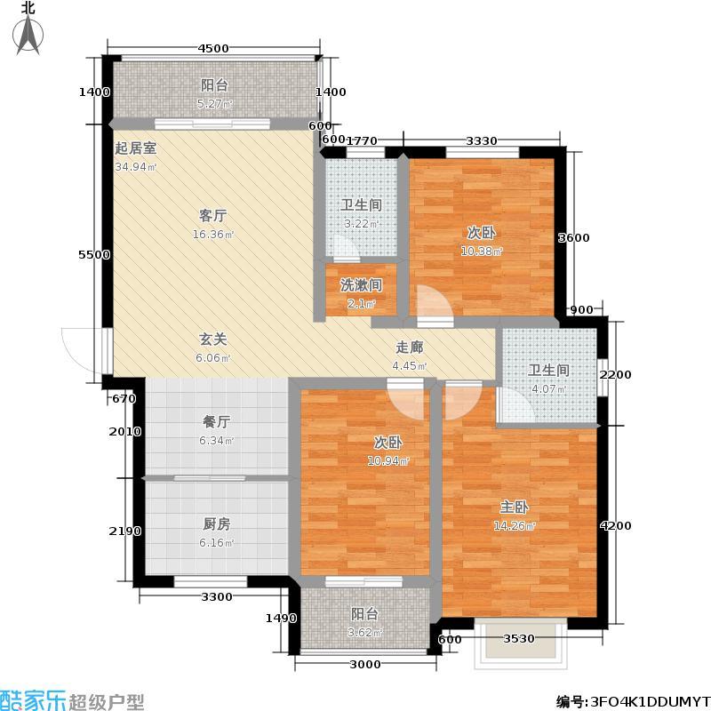 融辉城2期-蓝湾半岛-小高层效果图3户型