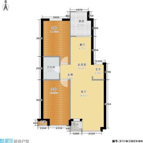 丰远・玫瑰城尚品2室0厅1卫1厨94.00㎡户型图