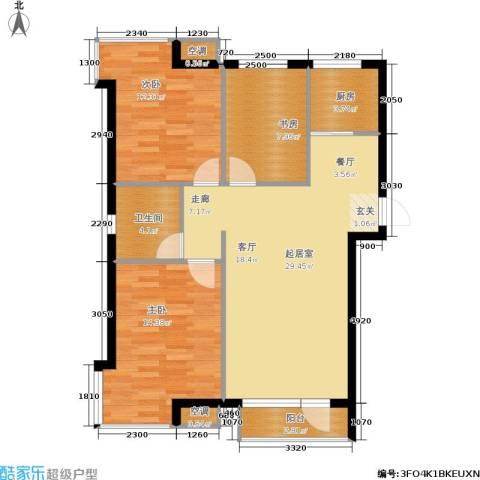 丰远・玫瑰城尚品3室0厅1卫1厨106.00㎡户型图