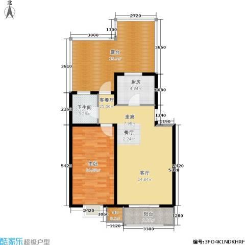 保利馨园1室1厅1卫1厨99.00㎡户型图
