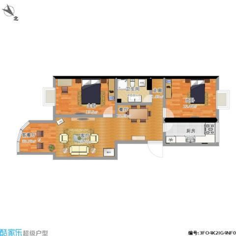 加华印象街2室1厅1卫1厨102.00㎡户型图
