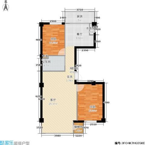 东升御景苑2室0厅1卫1厨110.00㎡户型图