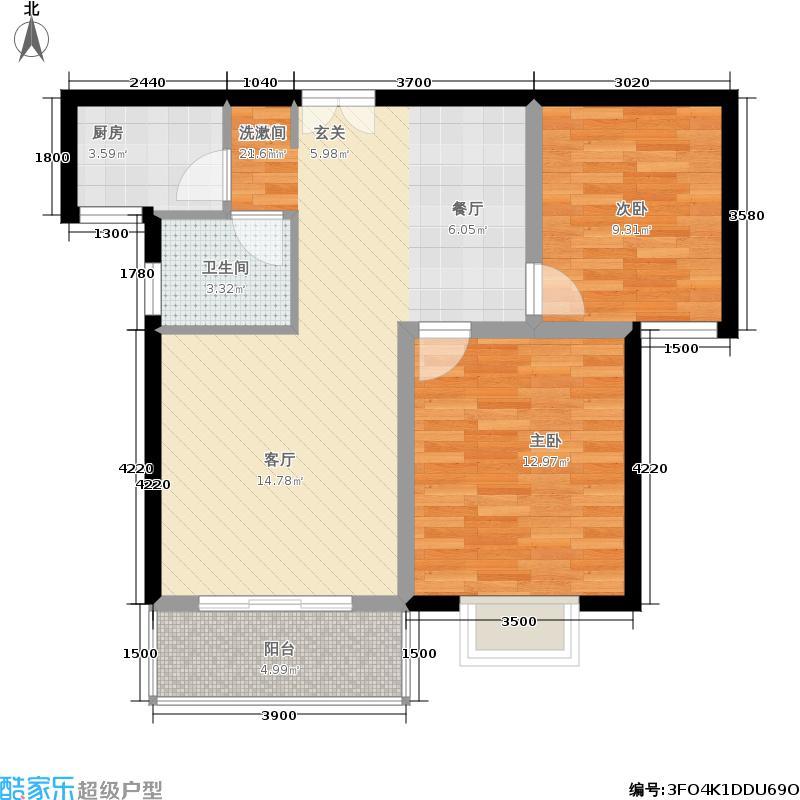 融辉城2期-蓝湾半岛-小高层效果图4户型