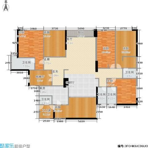华贸中心4室1厅5卫1厨305.00㎡户型图