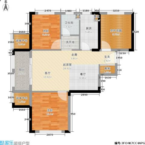 金象泰吉祥家园2室0厅1卫1厨92.00㎡户型图