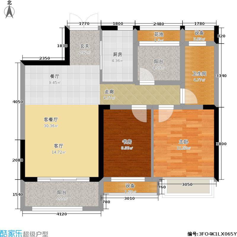 龙湖锦艺城83.00㎡观锦户型2室2厅