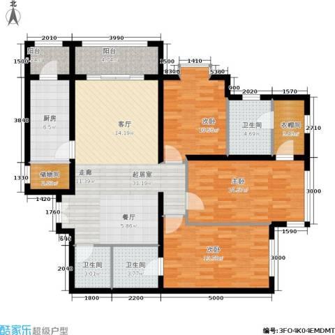 荣丰20083室0厅3卫1厨144.00㎡户型图