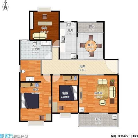 阳光嘉苑3室1厅1卫1厨146.00㎡户型图