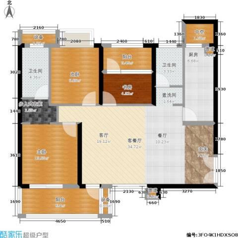 招商・卡达凯斯3室1厅2卫1厨115.00㎡户型图