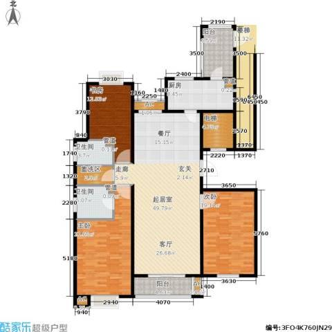 园丁小区3室0厅2卫1厨196.00㎡户型图