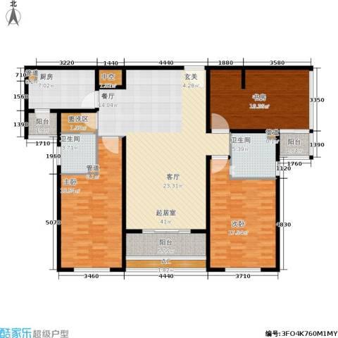 园丁小区3室0厅2卫1厨138.57㎡户型图