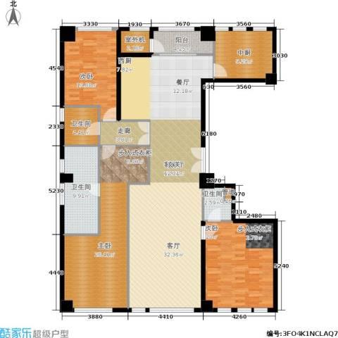 新华文化广场3室1厅3卫0厨220.00㎡户型图