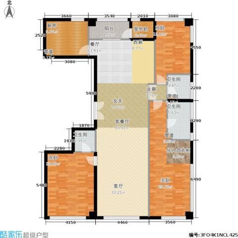 新华文化广场3室1厅3卫1厨215.00㎡户型图