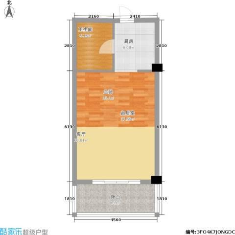 徽州庄园1卫0厨50.00㎡户型图