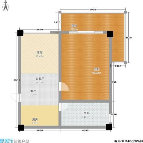 徽州庄园1室1厅1卫0厨86.00㎡户型图