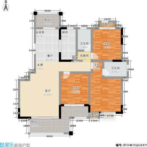 富地中心3室0厅2卫1厨170.00㎡户型图