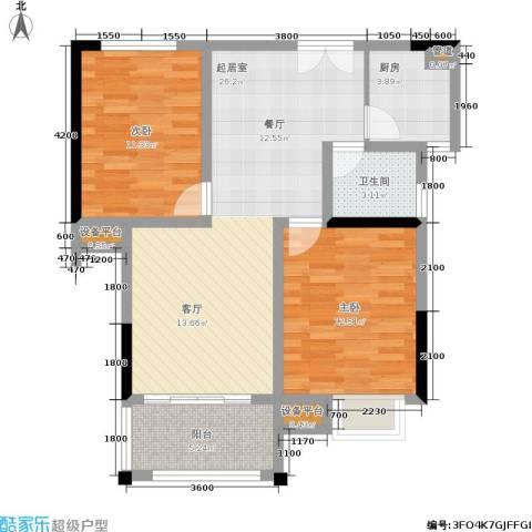 富地中心2室0厅1卫1厨92.00㎡户型图