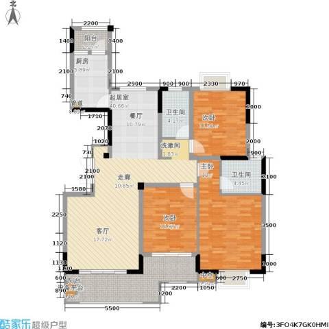 富地中心3室0厅2卫1厨159.00㎡户型图