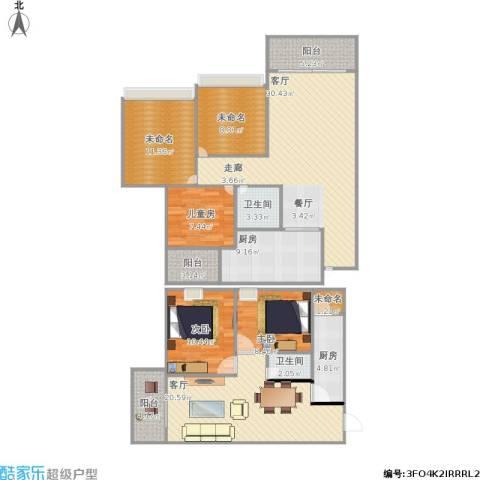 群乐佳苑3室2厅2卫2厨177.00㎡户型图