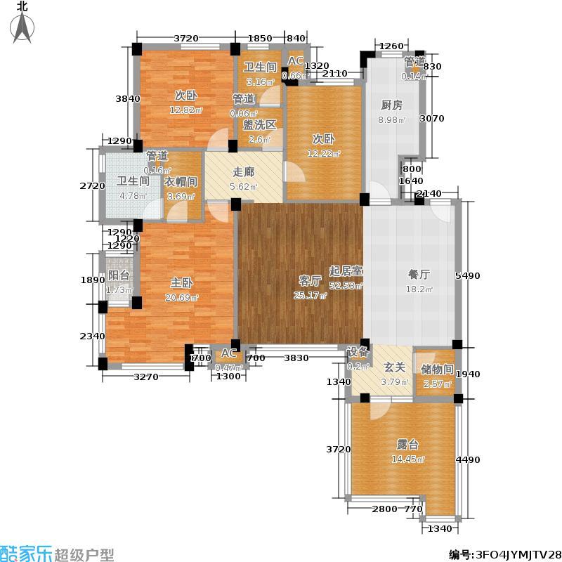 万科假日风景152.48㎡情景洋房3面积15248m户型