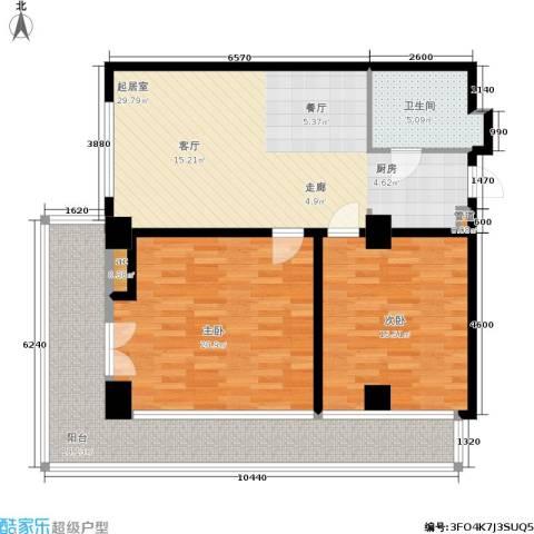 戴河首岭2室0厅1卫0厨129.00㎡户型图