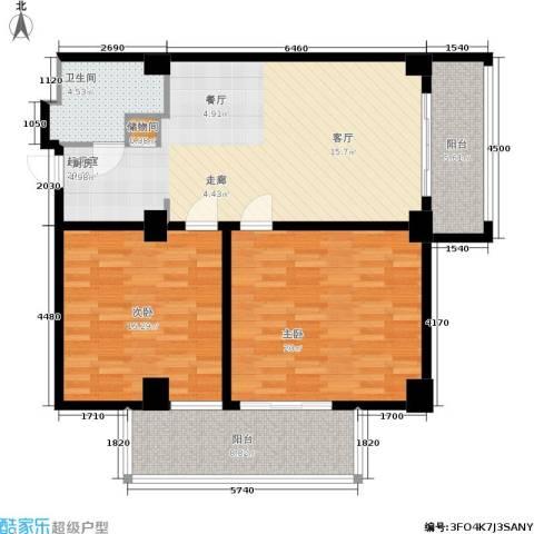 戴河首岭2室0厅1卫0厨121.00㎡户型图