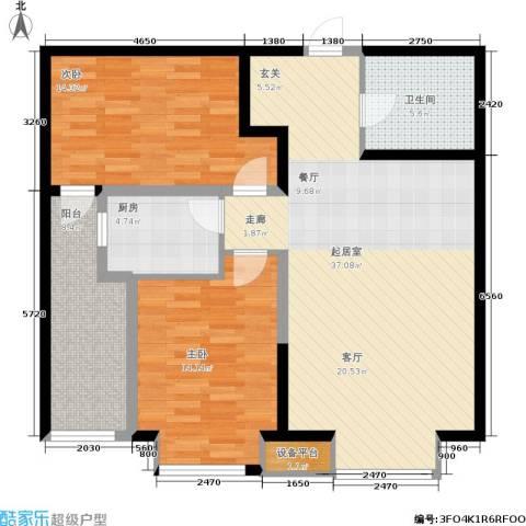 财富天下2室0厅1卫1厨121.00㎡户型图